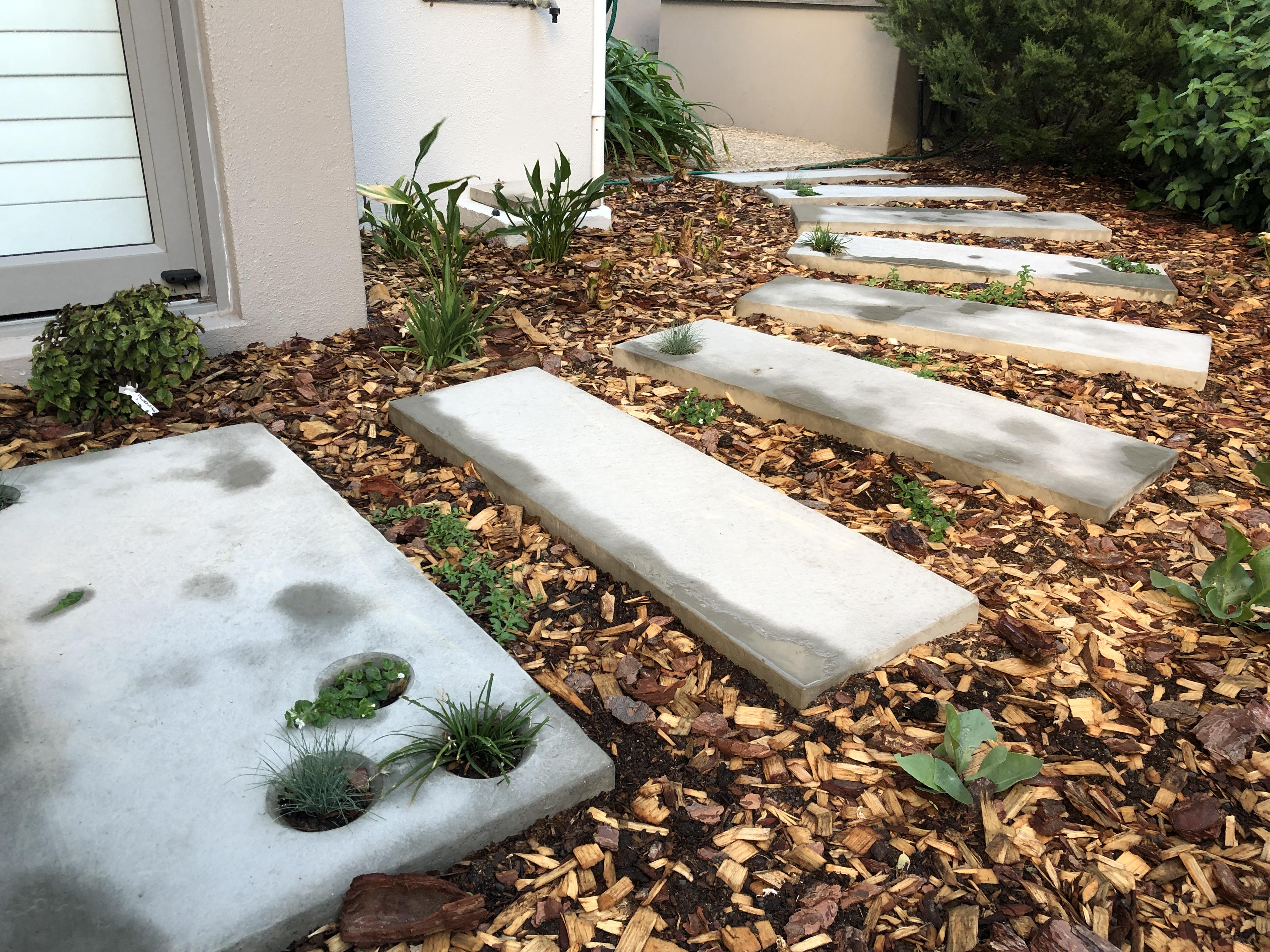 Garden pavers plant holes 1